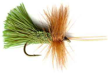Goddard's Green Caddis Sedge Fly pattern for trout fishing