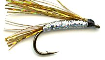 Gold and Silver Sparkler Streamer fly pattern