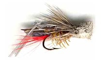 Gray Hopper Dry fly pattern