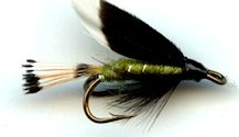 Green Heckham Peckham Double Hook Wet fly pattern