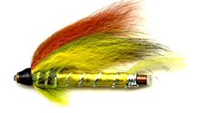Green Highlander 1 1/2 Inch Copper Salmon Tube fly pattern