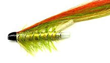 Green Highlander 1 1/2 Inch Plastic Salmon Tube fly pattern