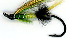 Green Highlander Salmon Single Hook fly pattern