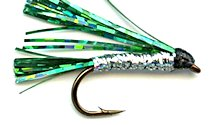 Green and Silver Sparkler Streamer fly pattern