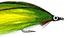 Green and Yellow Dolphinfish Lefty's Deceiver fly pattern