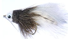 White and Gray Baitfish Bass Bug for largemouth bass fishing