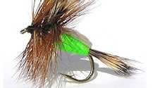 Lime Humpy Rough Water Attractor Dry fly pattern