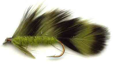 Olive Grizzly Matuka streamer Fly pattern