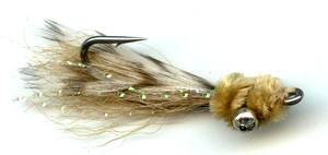 The Tan Mini Puff Bonefish Flyfishing Saltwater Fly