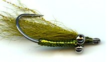 Olive Crazy Charlie Bonefish fly pattern