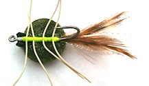 Del Brown's Merkin style Olive Saltwater Permit Crab fly pattern