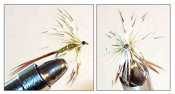 Olive French Partridge Mayfly Spinner