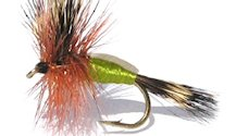 Olive Humpy Rough Water Attractor Dry fly pattern