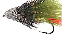Olive Marabou Muddler Minnow Streamer fly pattern