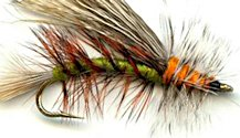 Olive Stimulator Attractor Dry fly pattern
