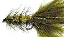 Olive Woolly Bugger fly pattern