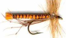 Orange Daddy Long Legs fly pattern