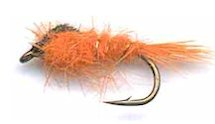 Orange Gold Ribbed Hare's Ear Nymph fly pattern