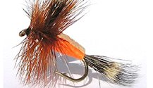 Orange Humpy Rough Water Attractor Dry fly pattern