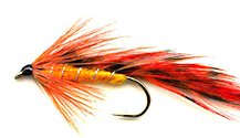 Orange Matuka Streamer fly pattern