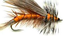 Orange Stimulator Attractor Dry fly pattern