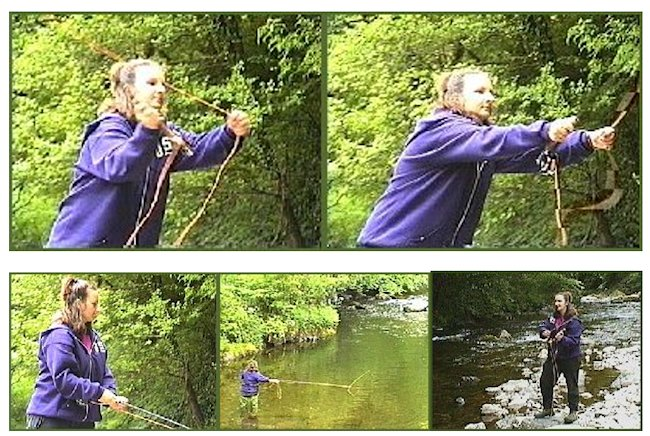 Penny Luckhurst fly fishing for sea trout
