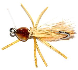 Bitter saltwater tan crab fly fishing pattern