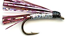 Pink and Silver Sparkler Streamer fly pattern