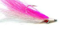 Pink and White Clouser's Deepwater Minnow fly pattern