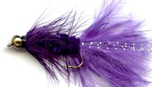 Purple Beaded Woolly Bugger fly pattern