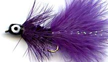 Purple Deepwater Woolly Bugger fly pattern