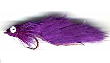 Purple Leech Bass Bug for largemouth bass fishing