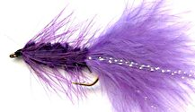 Purple Woolly Bugger fly pattern