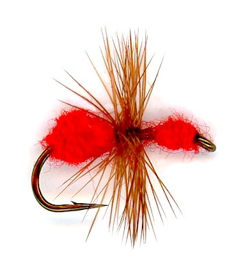 Red Ant Dry Fly pattern for Trout flyfishing