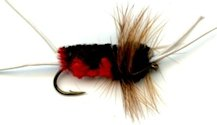 Black and Red Bitch Creek Stonefly Nymph fly pattern