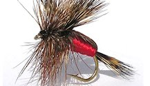 Red Humpy Rough Water Attractor Dry fly pattern