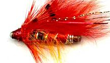 Red Nosed Ally's Shrimp One Inch Copper Salmon Tube fly pattern