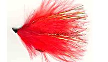 Red and Orange Alaskabou fly pattern