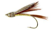 Beaded Rolled Muddler Minnow Streamer fly pattern