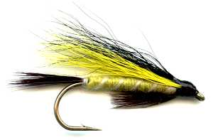 The Clan Barclay Scottish tartan hairwing fly fishing streamer fly.