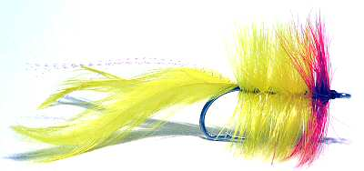 Red and yellow Tarpon Seducer Salt Water Fly Fishing Fly