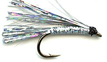 Silver Sparkler Streamer fly pattern