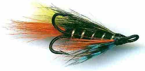 3 Green Highlander Treble Hook Salmon Fishing flies Choice of Sizes,