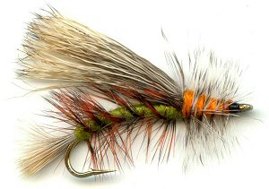 Olive Stimulator Attractor Dry Fly