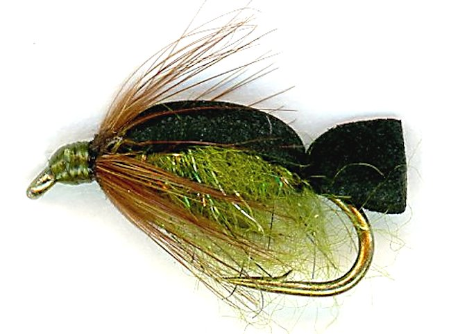 Swimming Olive Caddis Pupa flyfishing Nymph fly trout Pattern