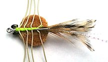 Del Brown's Merkin style Tan Saltwater Permit Sand Crab fly pattern