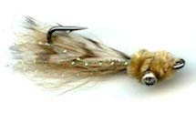 Tan Mini Puff Bonefish fly pattern
