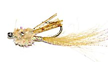 Tan Wiggler saltwater flats shrimp fly pattern