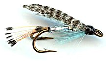 Teal Blue and Silver Double Hook Wet fly pattern