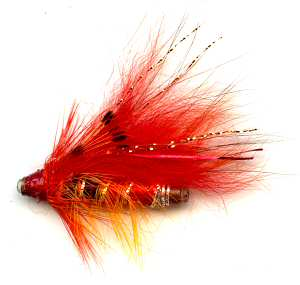 The Red Nosed Ally's Shrimp One Inch Copper Salmon and Steelhead Tube Fly